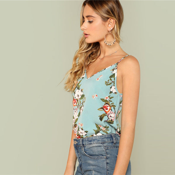 Floral Boho Vacation Top