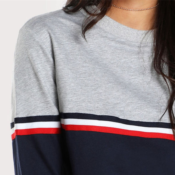 Striped Two Tone Sweater