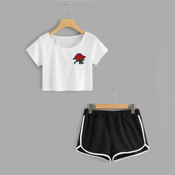 White Rose Patch Set
