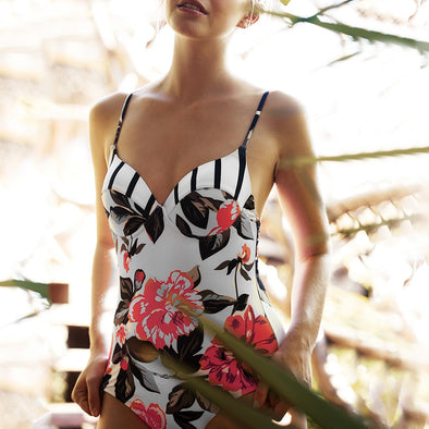 Affirmative Floral One Piece Swimsuit