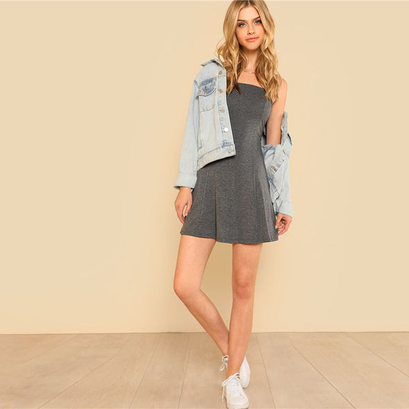 Grey Swing Slip Dress