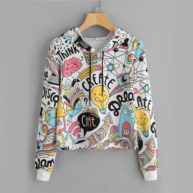 Cartoon Graphic  Hoodie