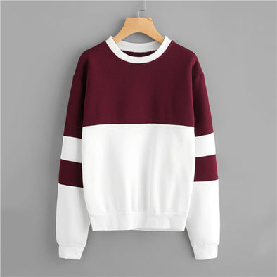 Burgundy Block Sweater