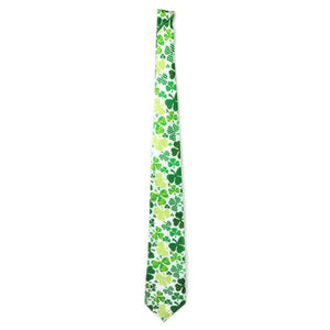 Men Tie Polyester Floral Skinny Necktie Slim Casual For Ireland Festival Theme