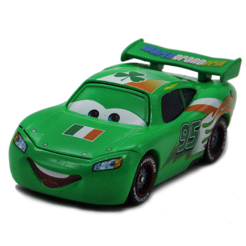 Disney 100% Original Pixar Cars Diecast NO.95 Green Ireland McQueen Metal Toy Car 1:55 Loose Brand New  Alloy Car Toy for Kid