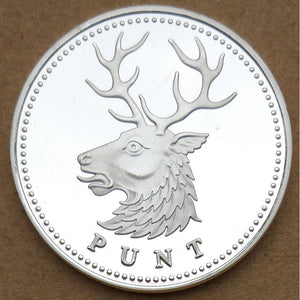 New Northern Ireland Elk PUNT Sliver Coin Gift North Ireland Commemorative Coin Steel Metal Craft