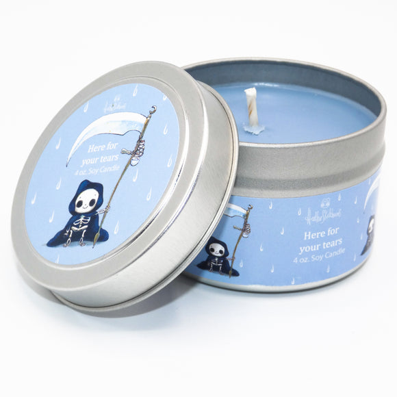 Here For Your Tears- Heathersketcheroos Officially Licensed- Soy Vegan Candle