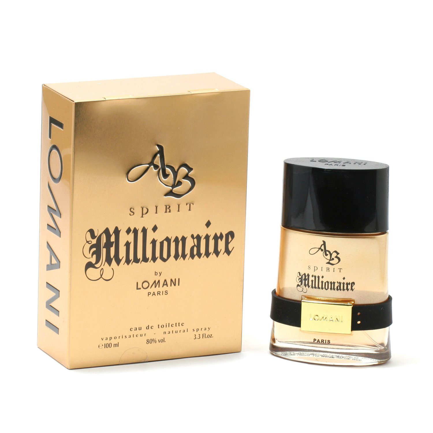 Cologne - AB SPIRIT MILLIONAIRE FOR MEN BY LOMANI - EAU DE TOILETTE SPRAY, 3.4 OZ