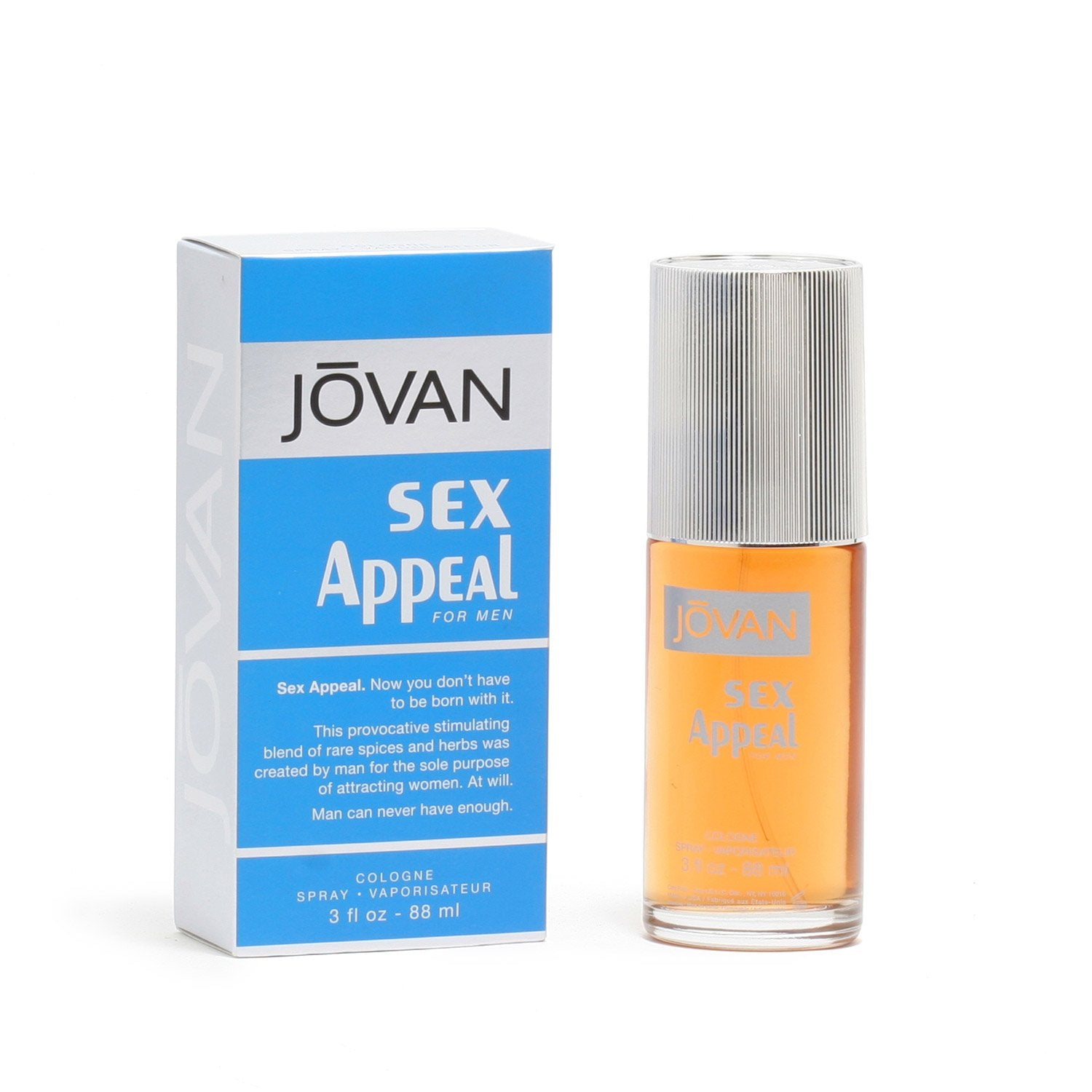 Cologne - JOVAN SEX APPEAL FOR MEN - COLOGNE SPRAY, 3.0 OZ