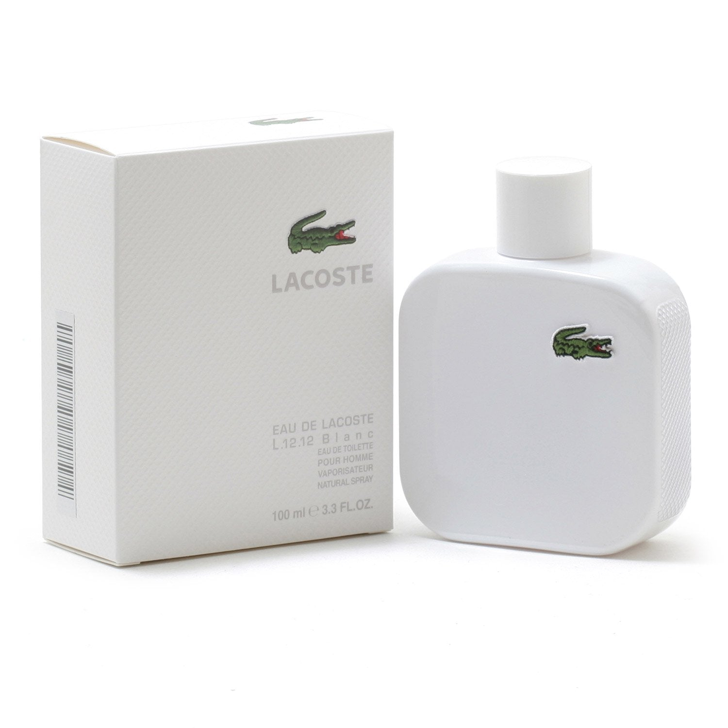 Cologne - LACOSTE EAU DE LACOSTE L.12.12 BLANC FOR MEN - EAU DE TOILETTE SPRAY