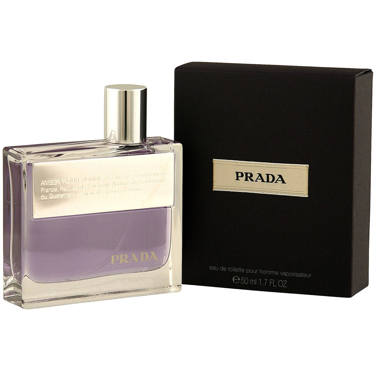 Cologne - PRADA AMBER FOR MEN - EAU DE TOILETTE SPRAY