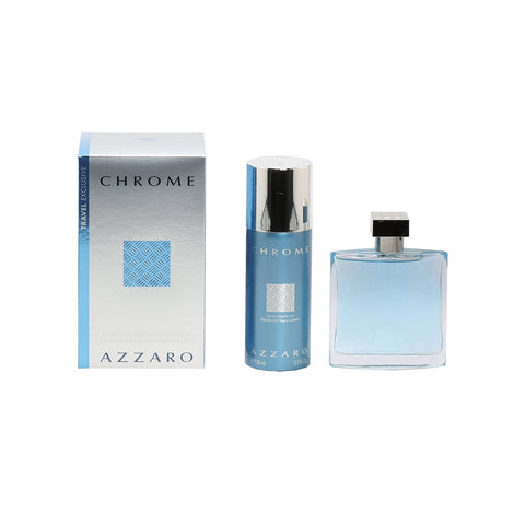 Cologne Sets - AZZARO CHROME FOR MEN - GIFT SET