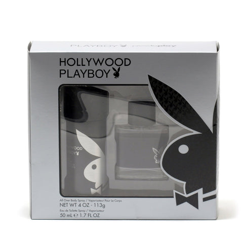 Cologne Sets - PLAYBOY HOLLYWOOD FOR MEN - BODY SPRAY GIFT SET