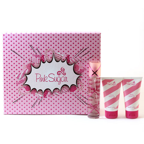 Perfume - PINK SUGAR FOR WOMEN BY AQUOLINA - TRAVEL GIFT SET