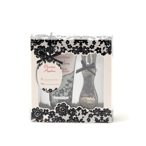 Perfume Sets - CHRISTINA AGUILERA SIGNATURE FOR WOMEN - TRAVEL GIFT SET