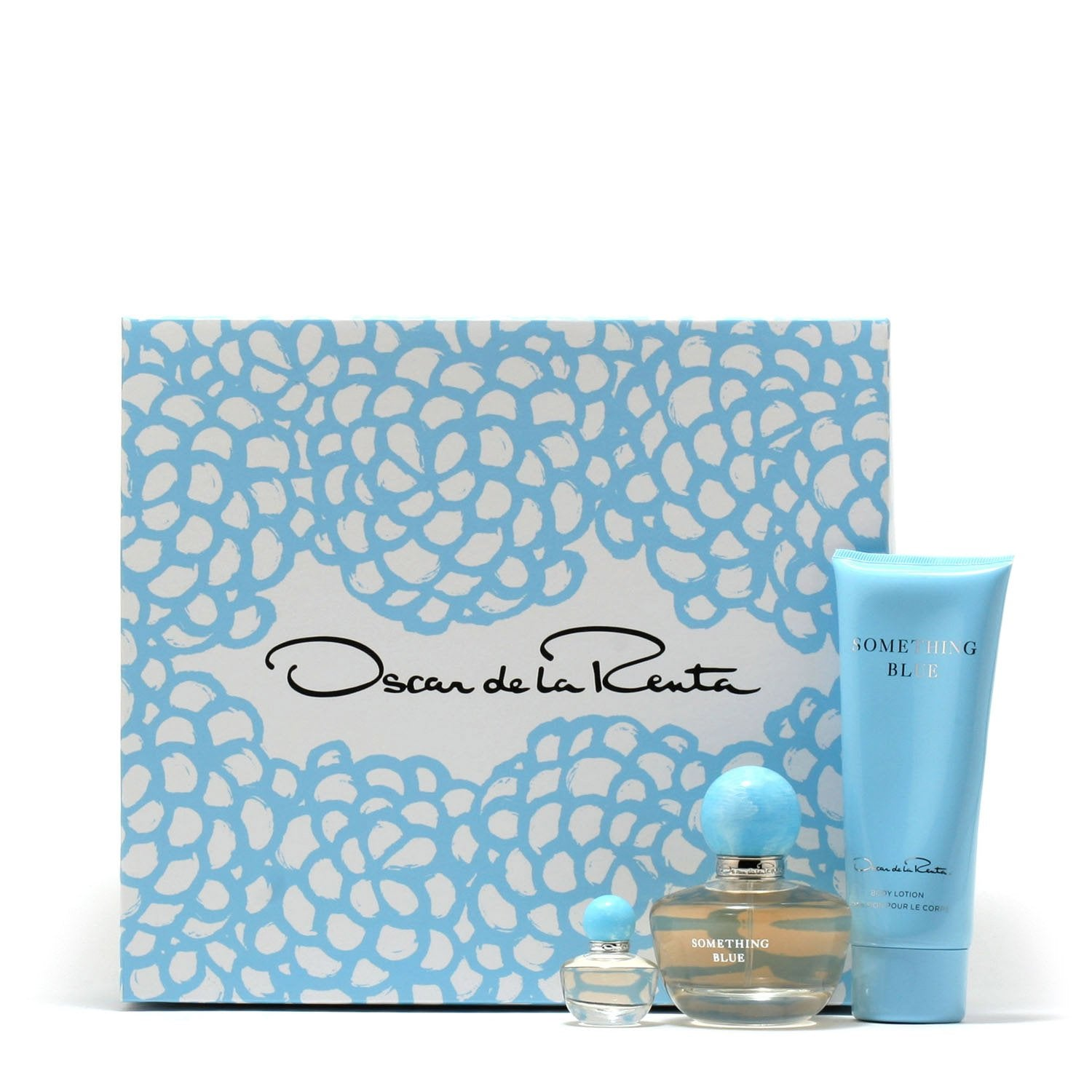 Perfume Sets - OSCAR DE LA RENTA SOMETHING BLUE FOR WOMEN - GIFT SET