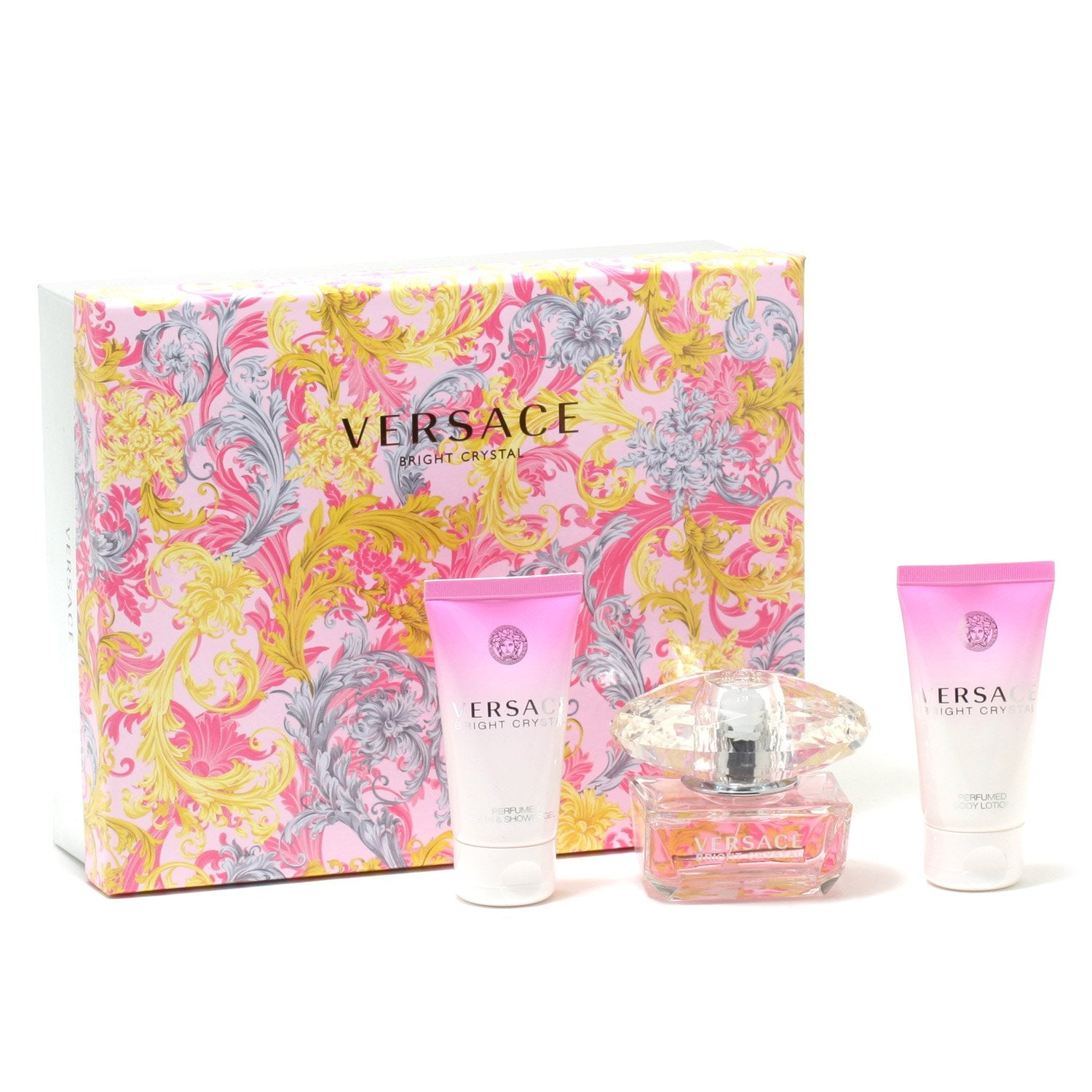 Perfume Sets - VERSACE BRIGHT CRYSTAL FOR WOMEN - GIFT SET