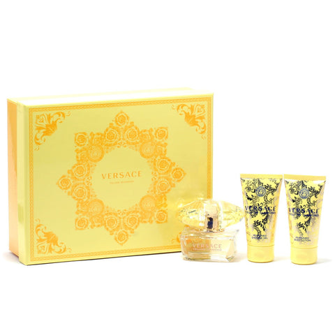 Perfume Sets - VERSACE YELLOW DIAMOND FOR WOMEN - ESSENTIALS GIFT SET