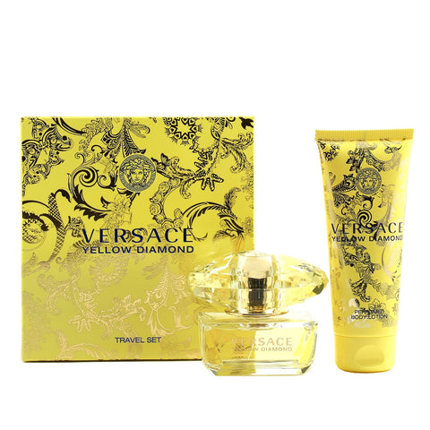 Perfume Sets - VERSACE YELLOW DIAMONDS FOR WOMEN - TRAVEL GIFT SET