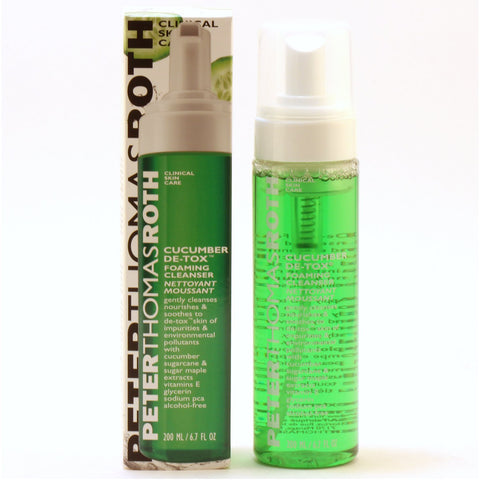 Skin Care - PETER THOMAS ROTH CUCUMBER DE-TOX FOAMING CLEANSER, 6.7 OZ
