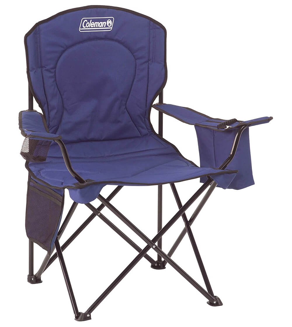 Budget Beach Chair Coleman Oversized Quad Chair with Cooler