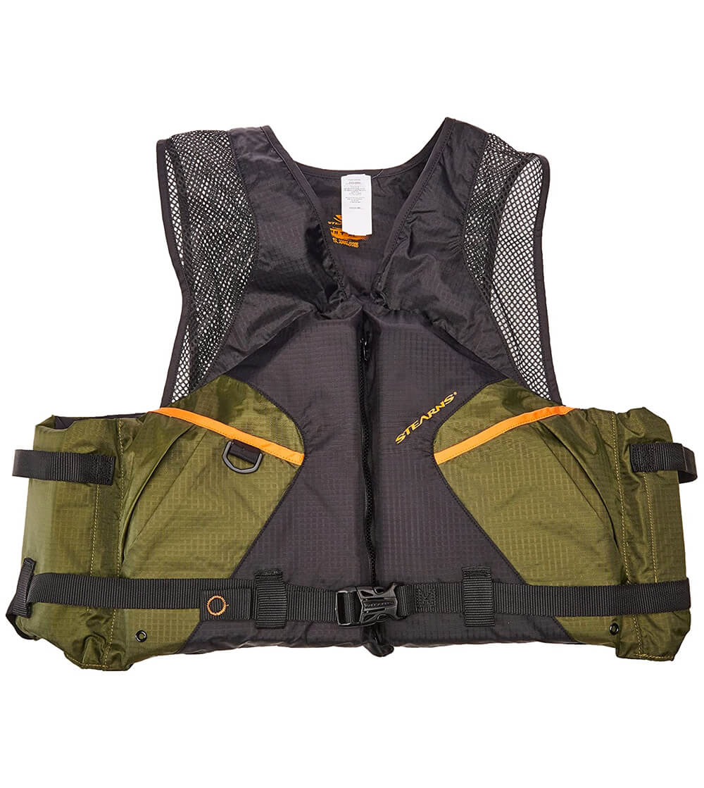 Green coleman stearn comfortable life jackets
