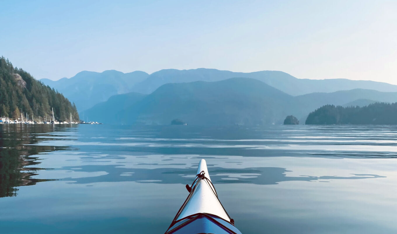 Canoe at deep cove central vancouver