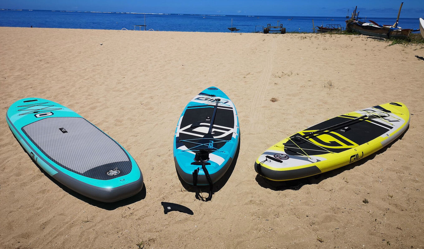 Different types of paddle boards