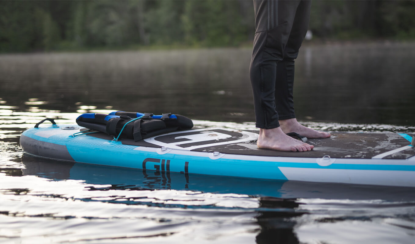 Your paddle board position change the workout