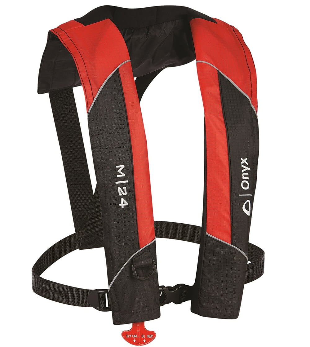 Red onyx M-24 inflatable life vest
