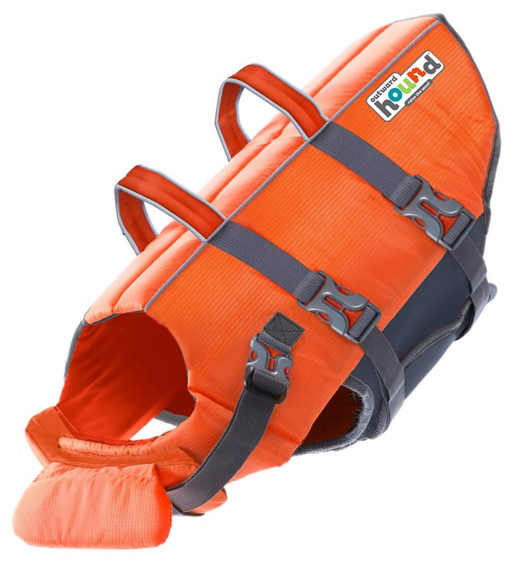 Bright color outward hound dog life jacket for small dogs