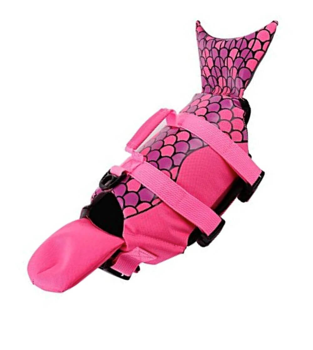 Pink petcee life jacket for small dogs