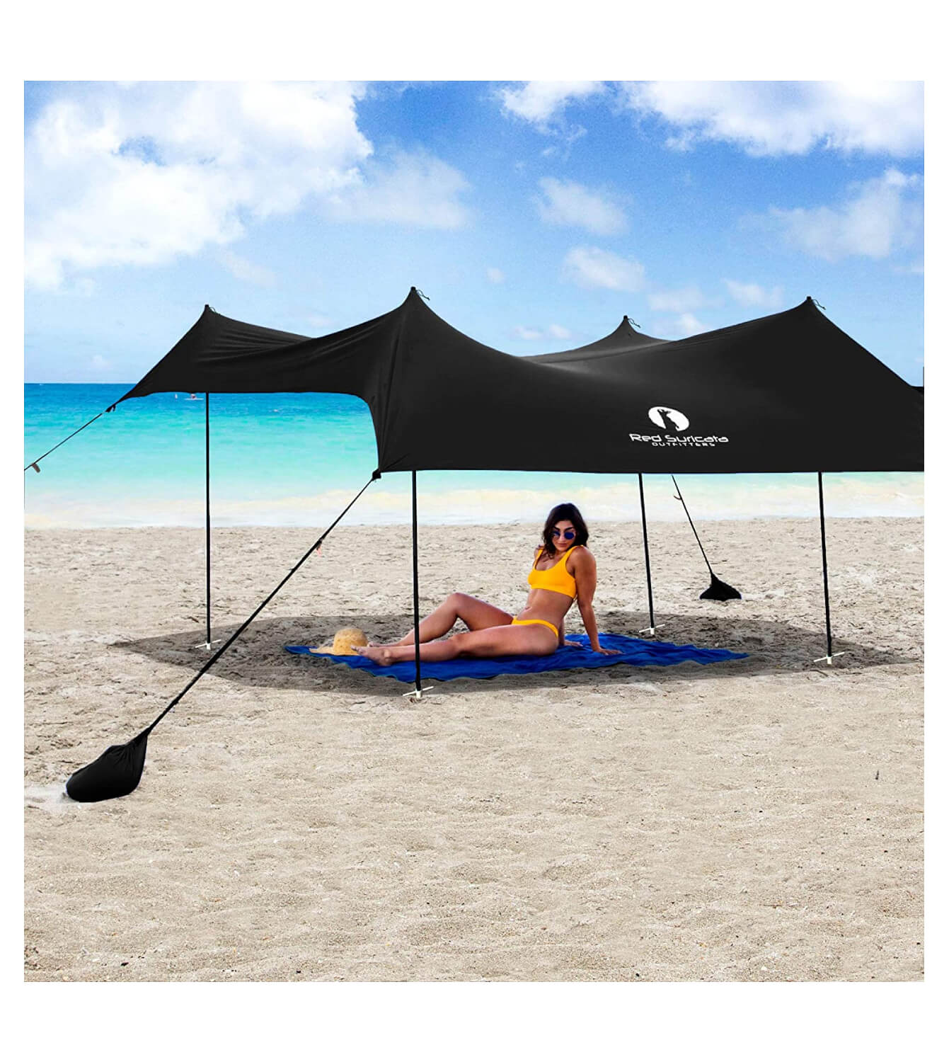Red Suricata Family Beach Sunshade – Sun Shade Canopy