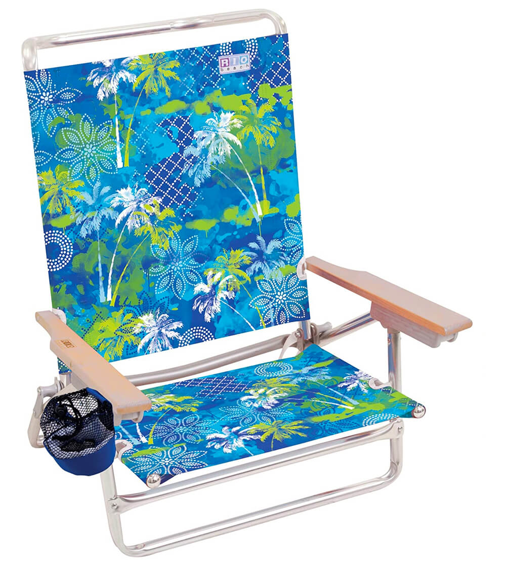 Rio 5 Position Lay Flat Beach Chair