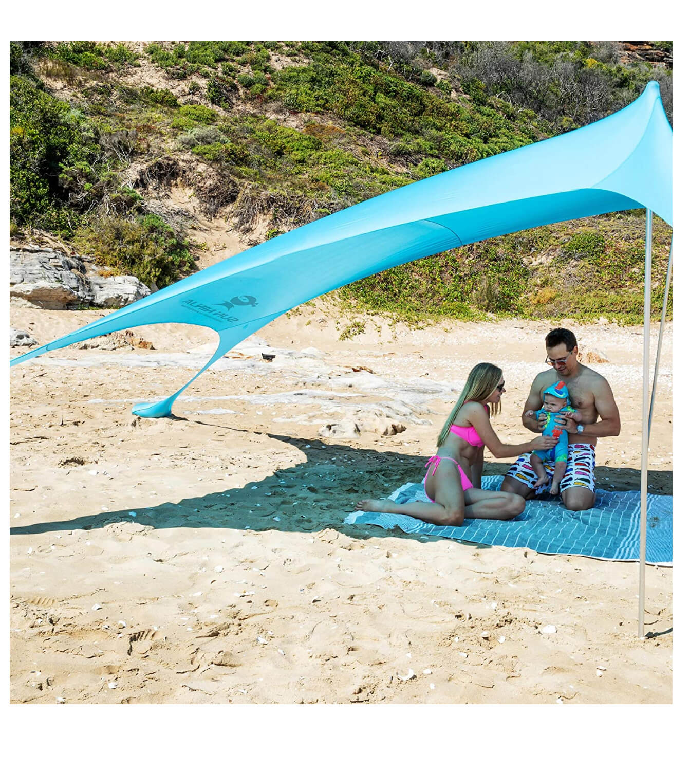 SUN NINJA Pop Up Beach Tent Sun Shelter