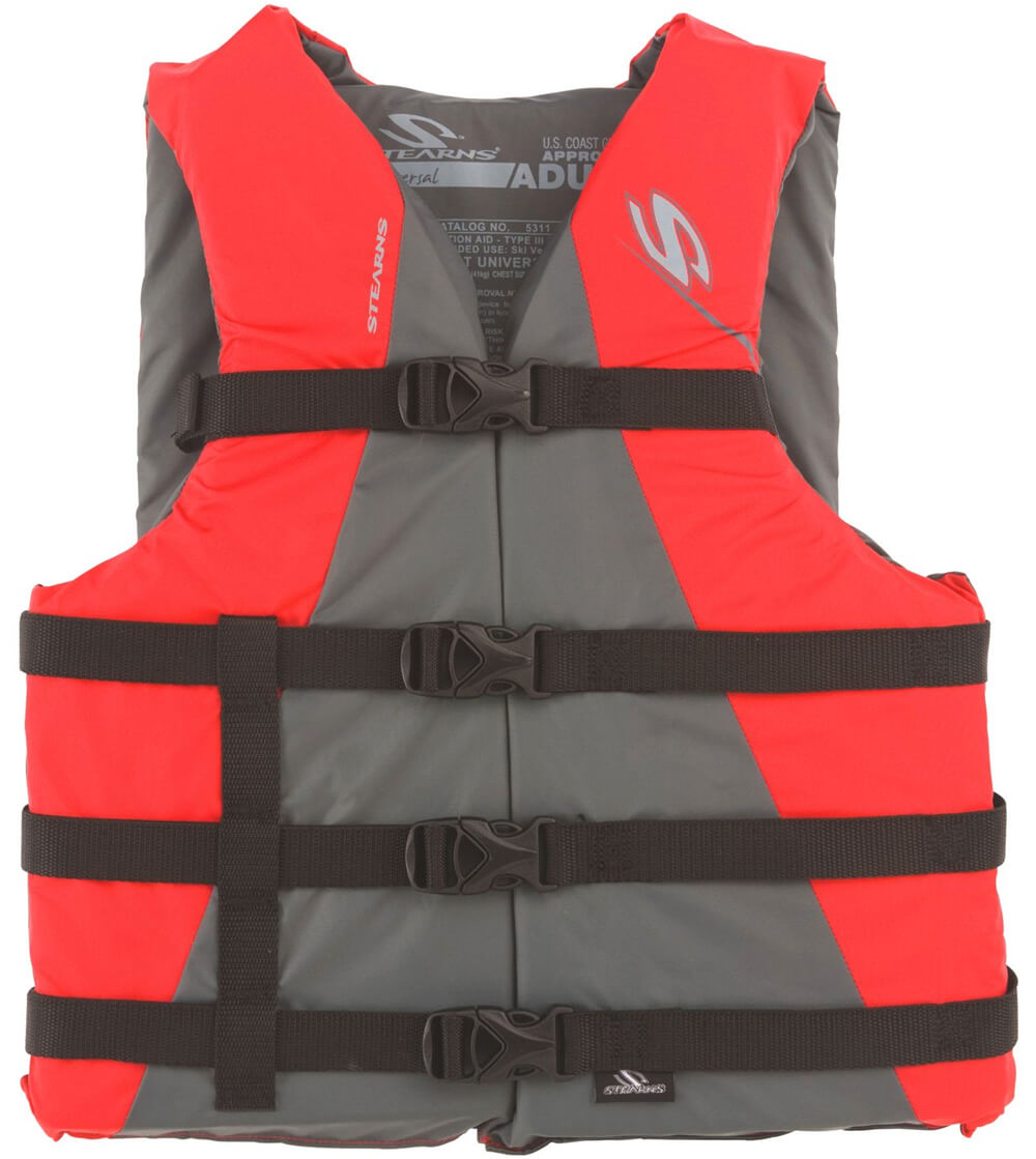 Red stearn adult classic life jacket