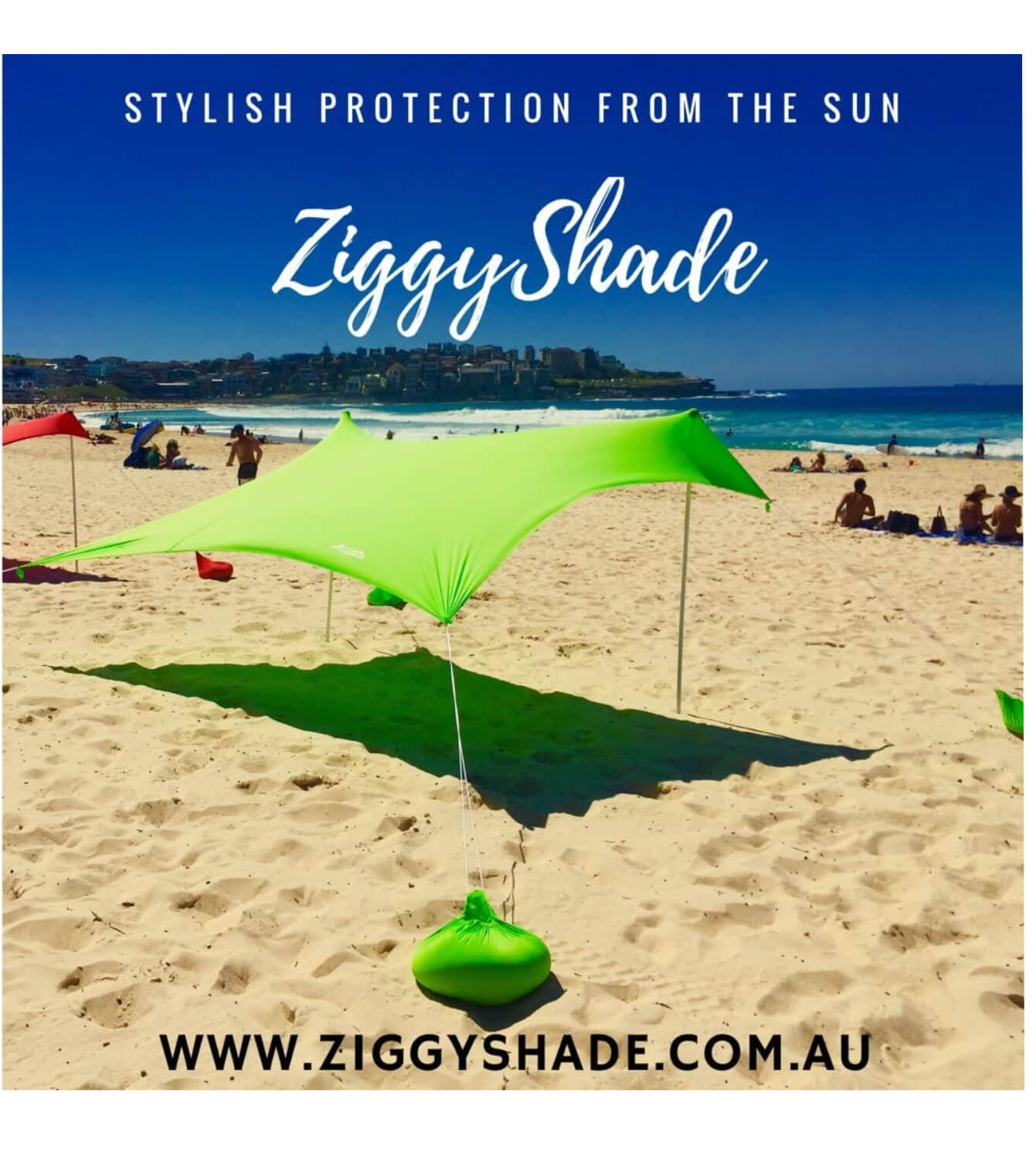 ZiggyShade Family Beach Sunshade