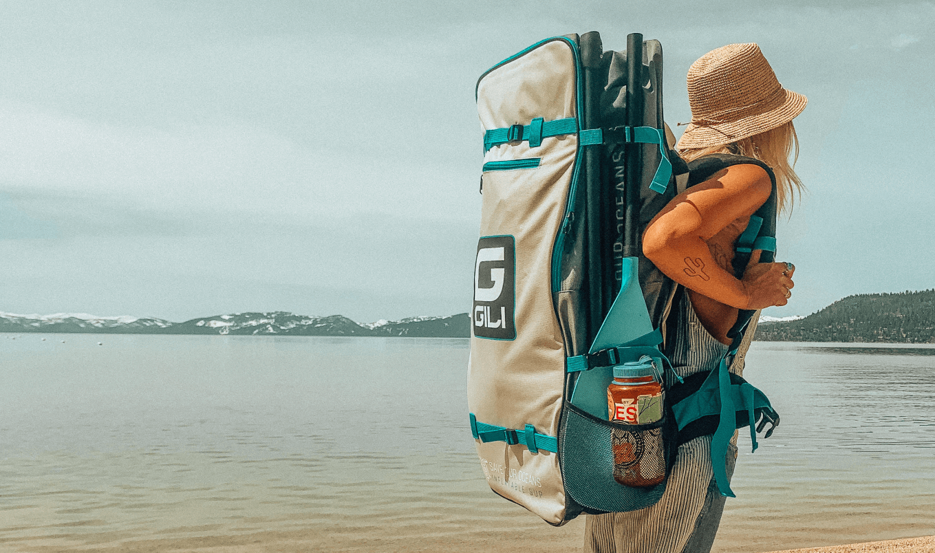 best paddle boards for beginners - backpack