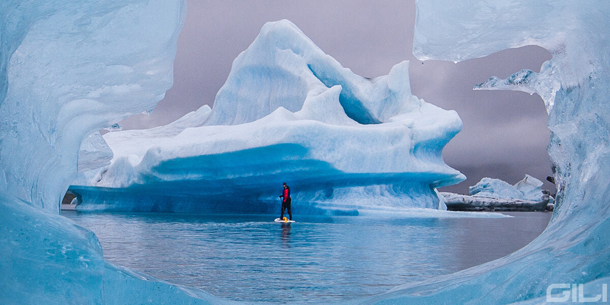 Paddle Boarding in Bear Glacier Lagoon, Alaska