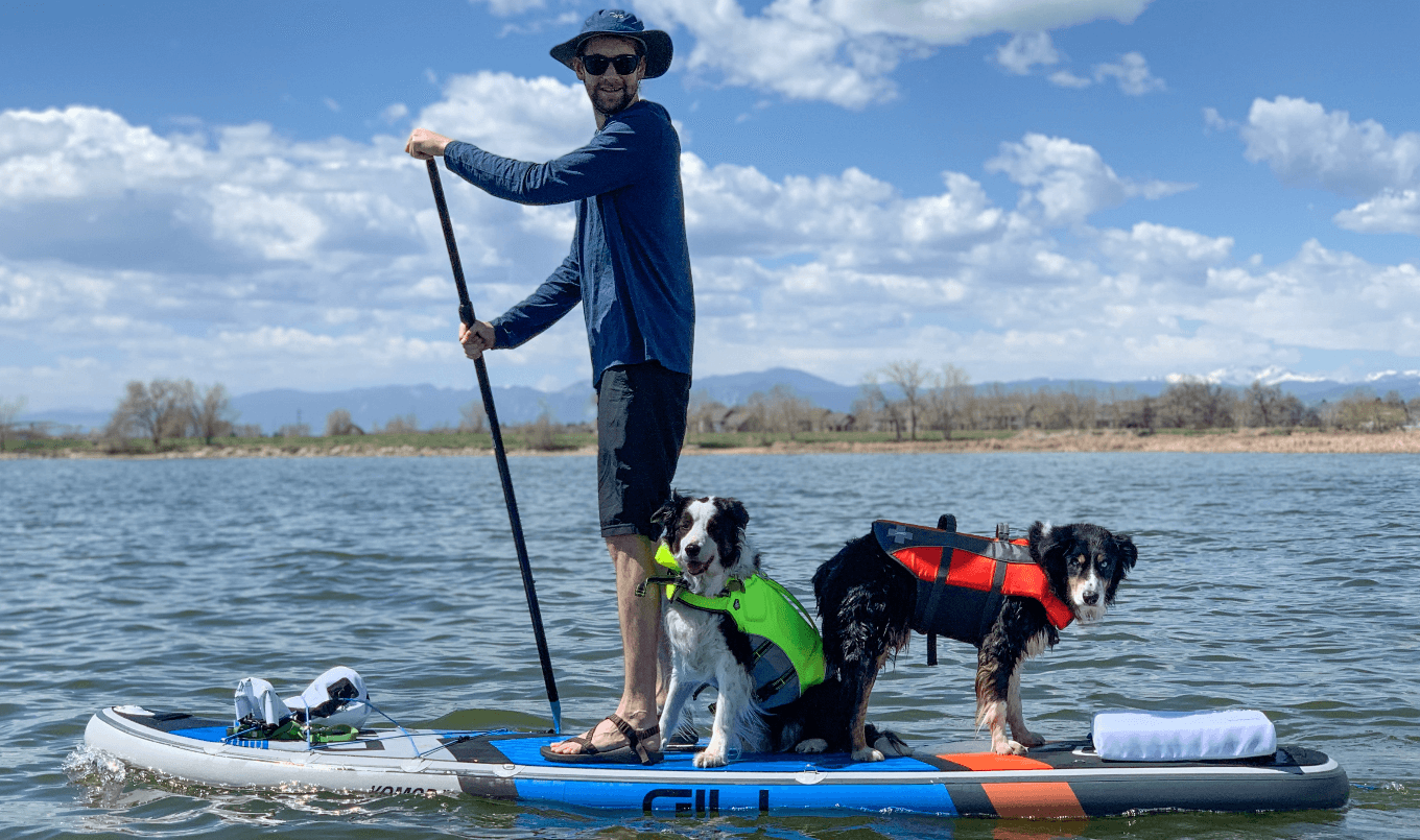 how to paddle board with your dog two pups