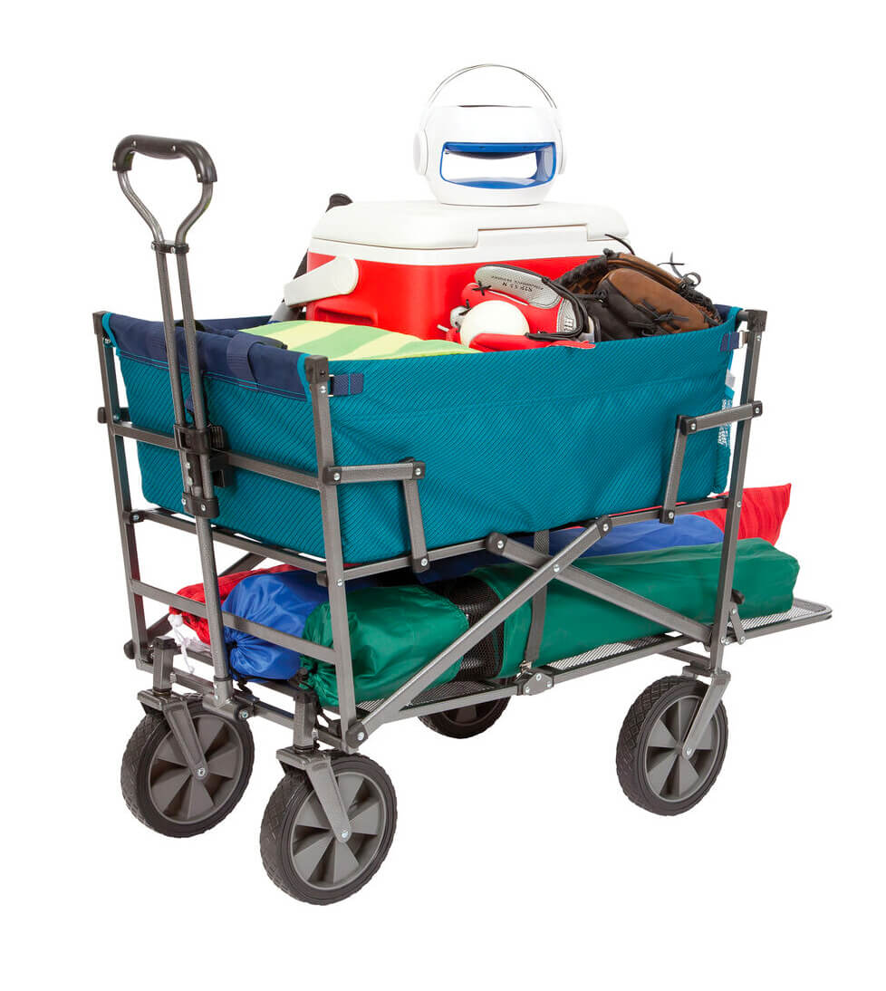 MacSports Collapsible Double Decker Outdoor Utility Wagon
