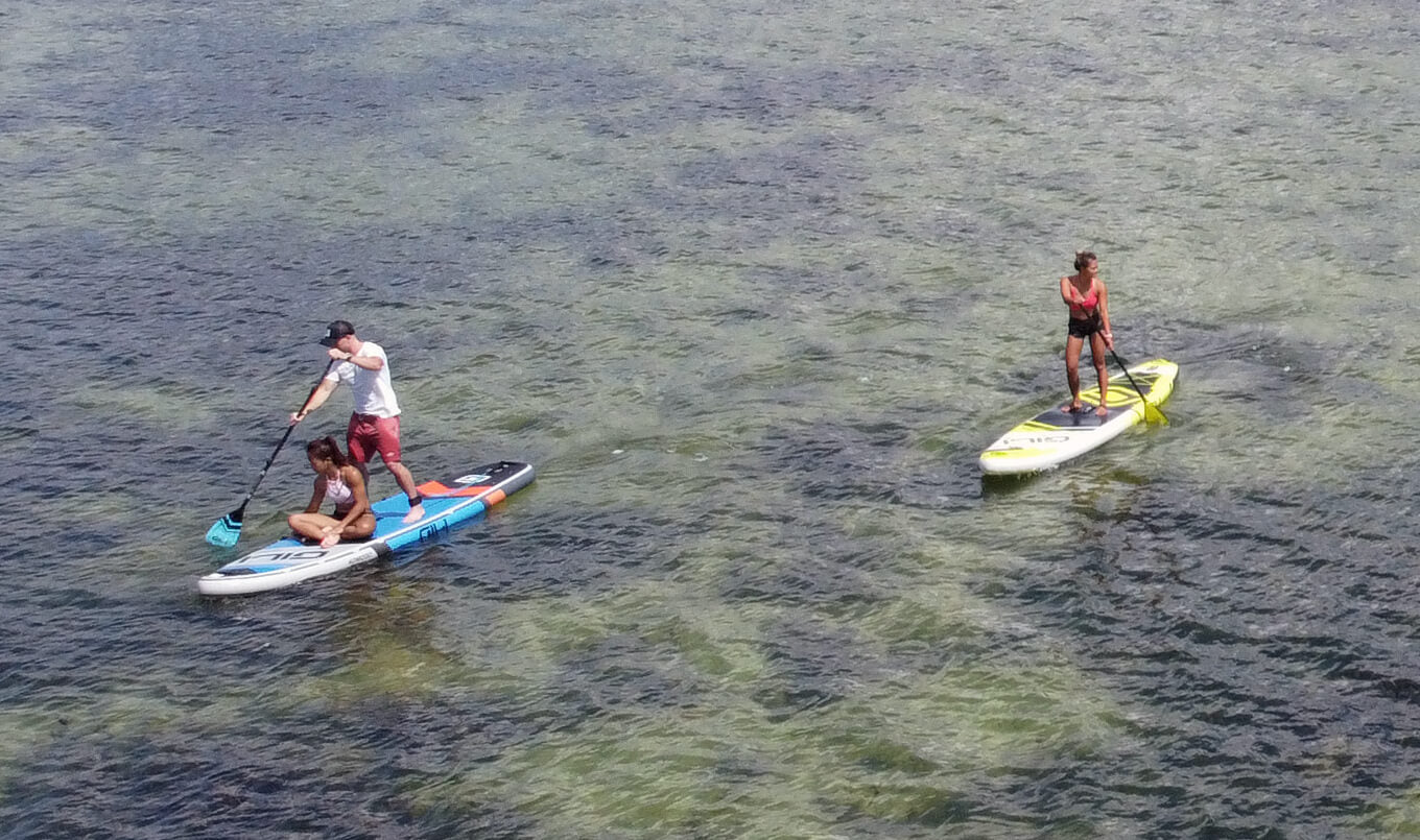 Riding with Friends on a SUP