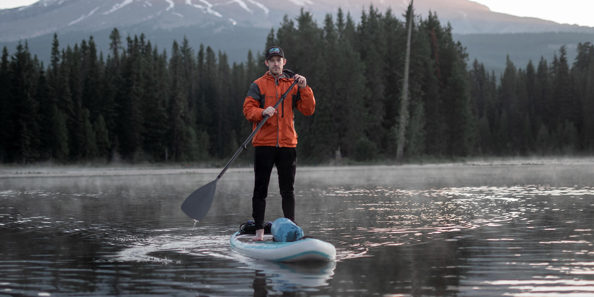Paddle Boarding with Gear: Bungees
