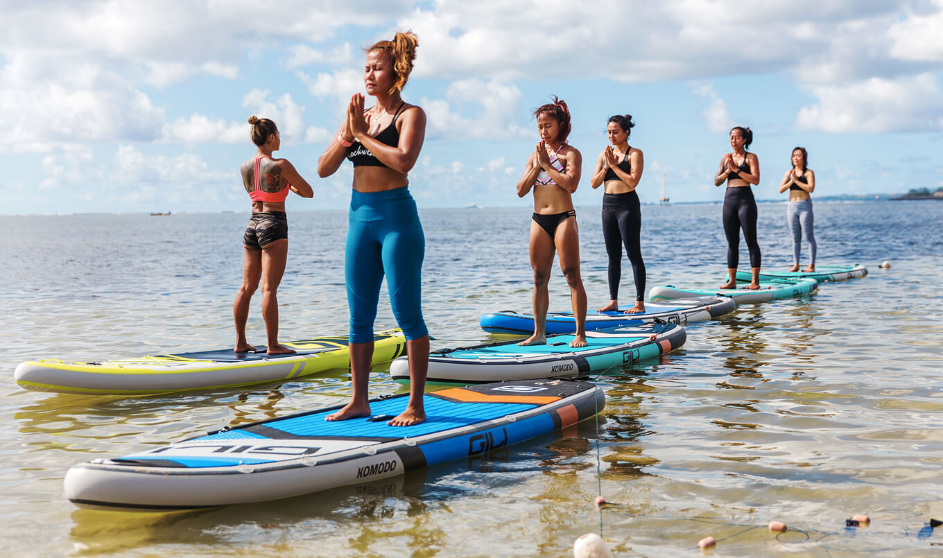 Land Yoga vs SUP Yoga