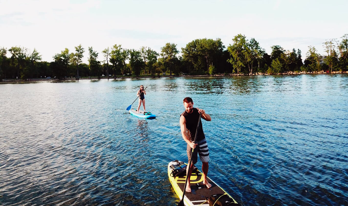 Paddle Boarding with Friends