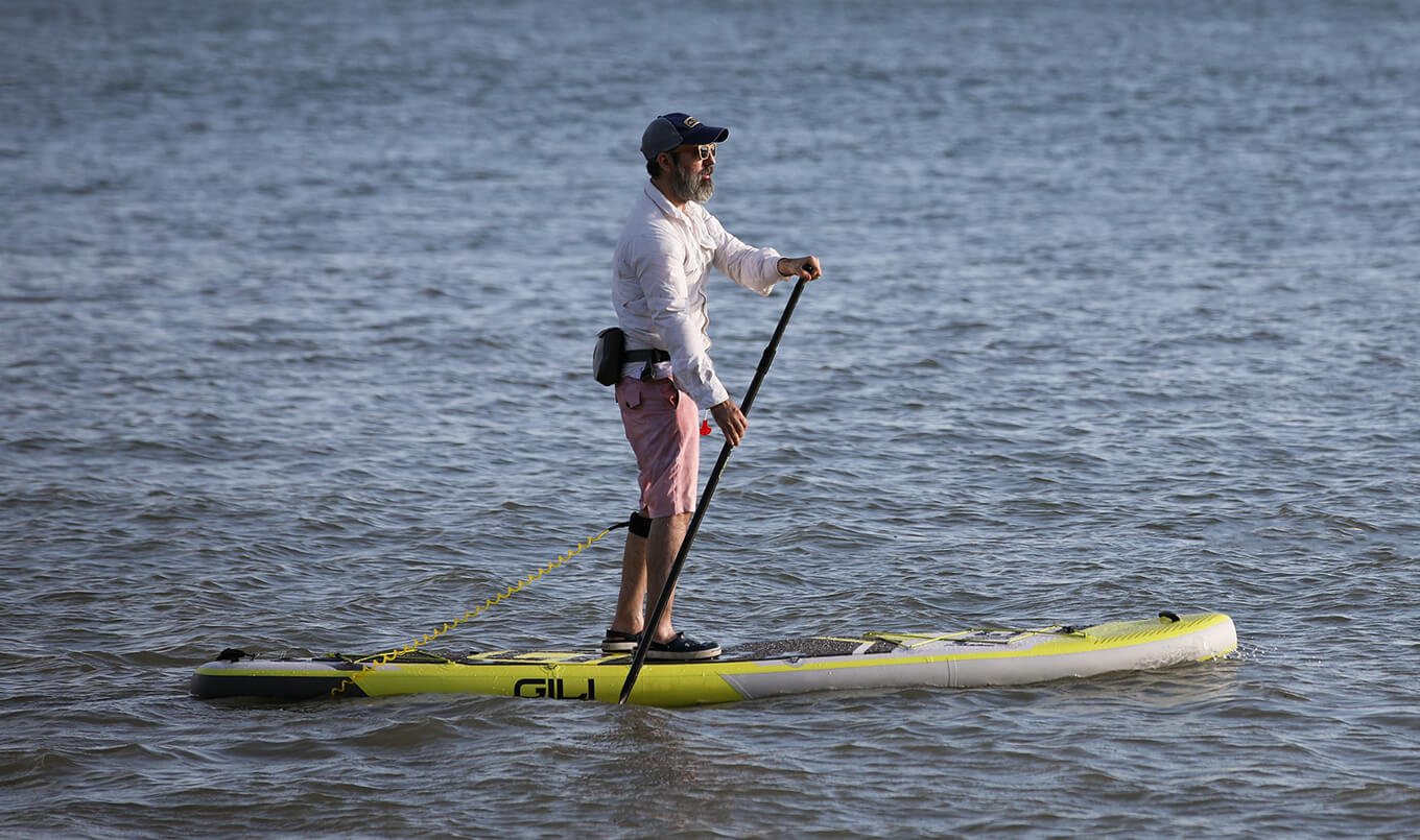 Paddling forward on Paddle Board