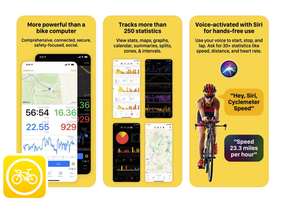 Cyclemeter app for SUP