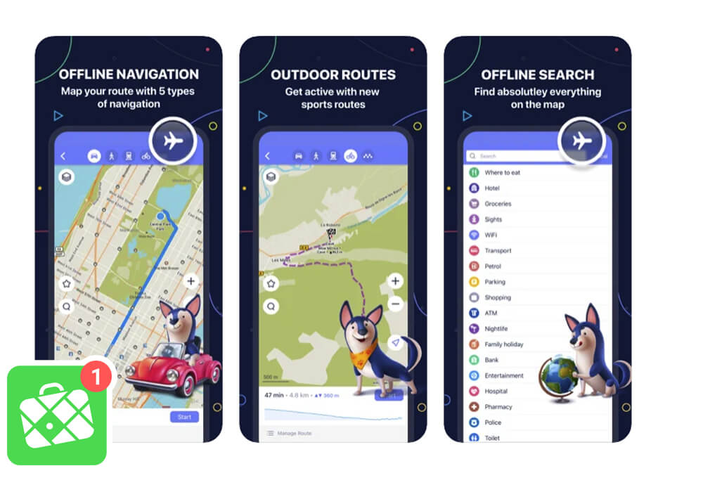Maps.me App for SUP