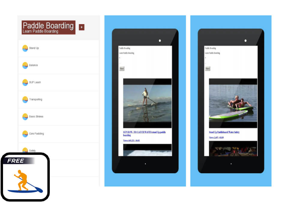 Paddle boarding App for SUP
