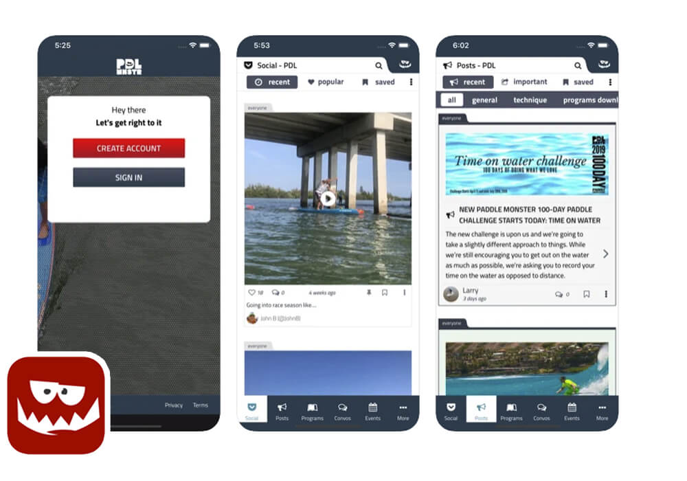 Paddle Monster App for SUP